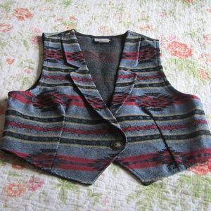 Vintage Southwestern Tapestry Vest, Large